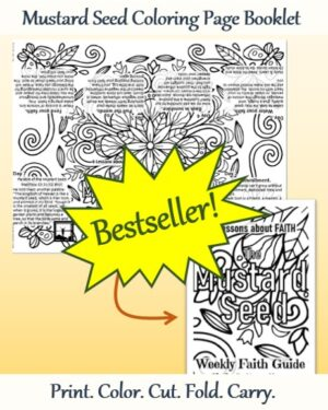 Mustard Seed One Coloring Page Pocket Booklet