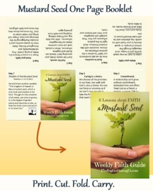Mustard Seed One Page Pocket Booklet