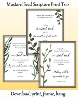 Mustard Seed Scripture Print Trio Wall Print