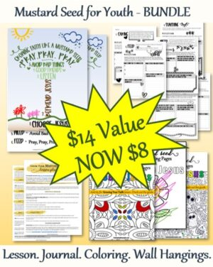 Mustard Seed for Youth Bundle Lesson Journal Wall Hanging Coloring