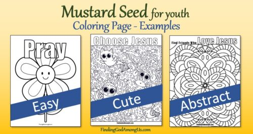 Parable of the Mustard Seed for Youth Coloring Page examples
