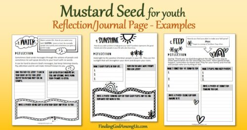Parable of the Mustard Seed for Youth Journal examples