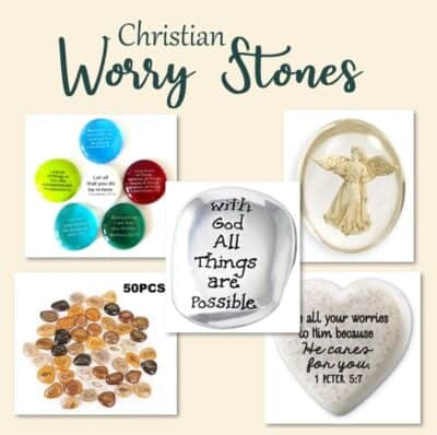 Christian worry stones to help calm anxiety