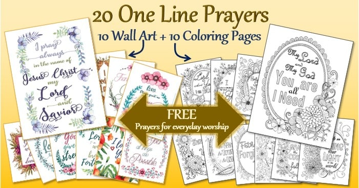 One Line Prayer Wall Art and Coloring Pages