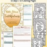 Bible Stories of Faithfulness Devotional Coloring Pages