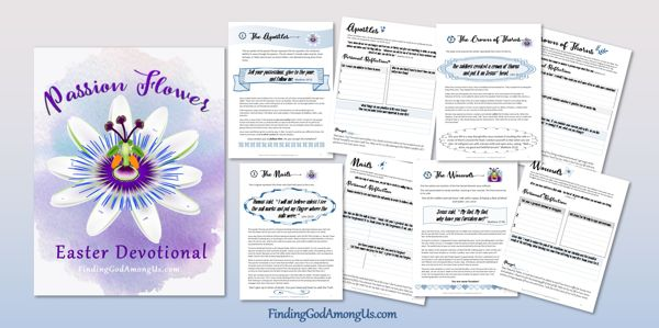 Passion Flower Easter Devotional sample pages for reflection and journaling