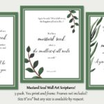 Mustard Seed Bible Verse Printable Wall Art 3-pack