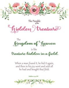 Parable of the Hidden Treasure Wall Art Bible Print