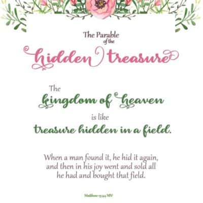 Parable of the Hidden Treasure Bible Verse Print