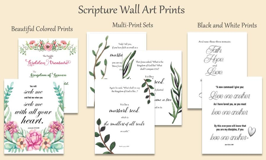 Scripture Wall Art Prints downloadable