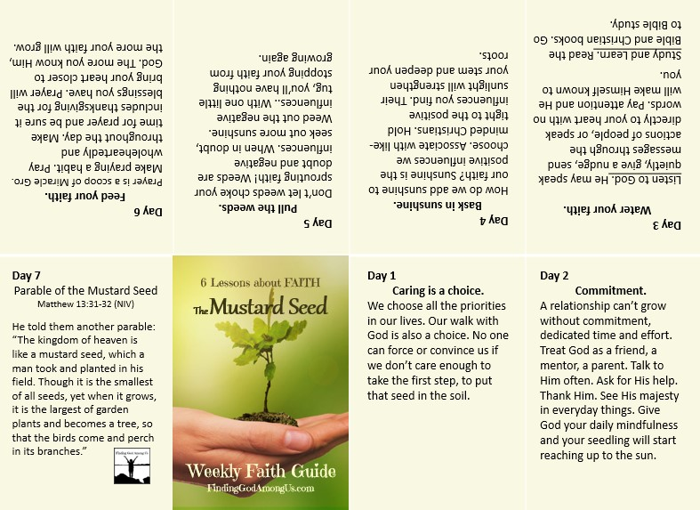 The Mustard Seed Printable Pocket Faith Guide spread